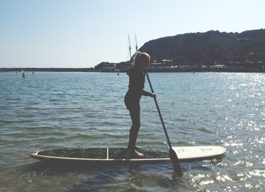 Natalie Grinnell Paddle Boarding Southern California Miss Soical Blog  -4