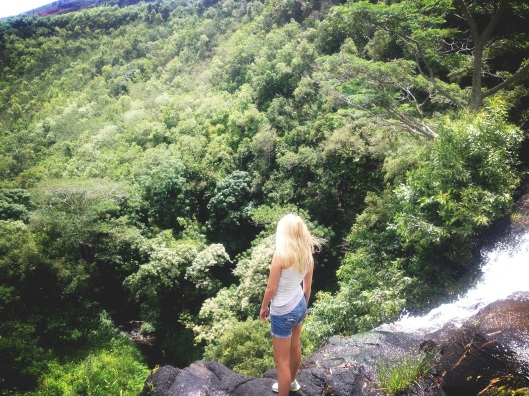 Natalie Grinnell Kauai Travel Blog World Travel Hawaii Hiking Spots Cliff Diving